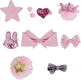 QUMY Dog Hair Clips Mixed Styles Varies Patterns Bows Pet Hair Accessories Grooming Product Hair...