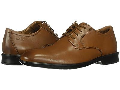 Clarks Bensley Lace (Dark Tan Leather) Men