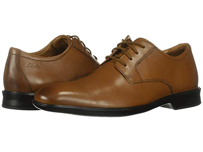 Clarks  Bensley Lace (Dark Tan Leather) Mens Shoes