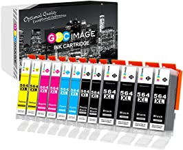 GPC Image Compatible Ink Cartridge Replacement for HP 564XL 564 XL to use with DeskJet 3520 3522 Officejet 4620 Photosmart 5520 6510 7520 7525 (4 Black 2 Cyan 2 Magenta 2 Yellow 2 Photo Black,12-Pack)