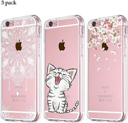 493644dc328 Yalixin [3 Pack] iPhone 6 Plus Funda, iPhone 6S Plus Funda Ultrafina  Transparente