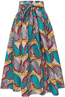 69a529e3771 Candow Look Femme Longues Jupe Cotton Imprime Boho Style Maxi Taille  Elastique