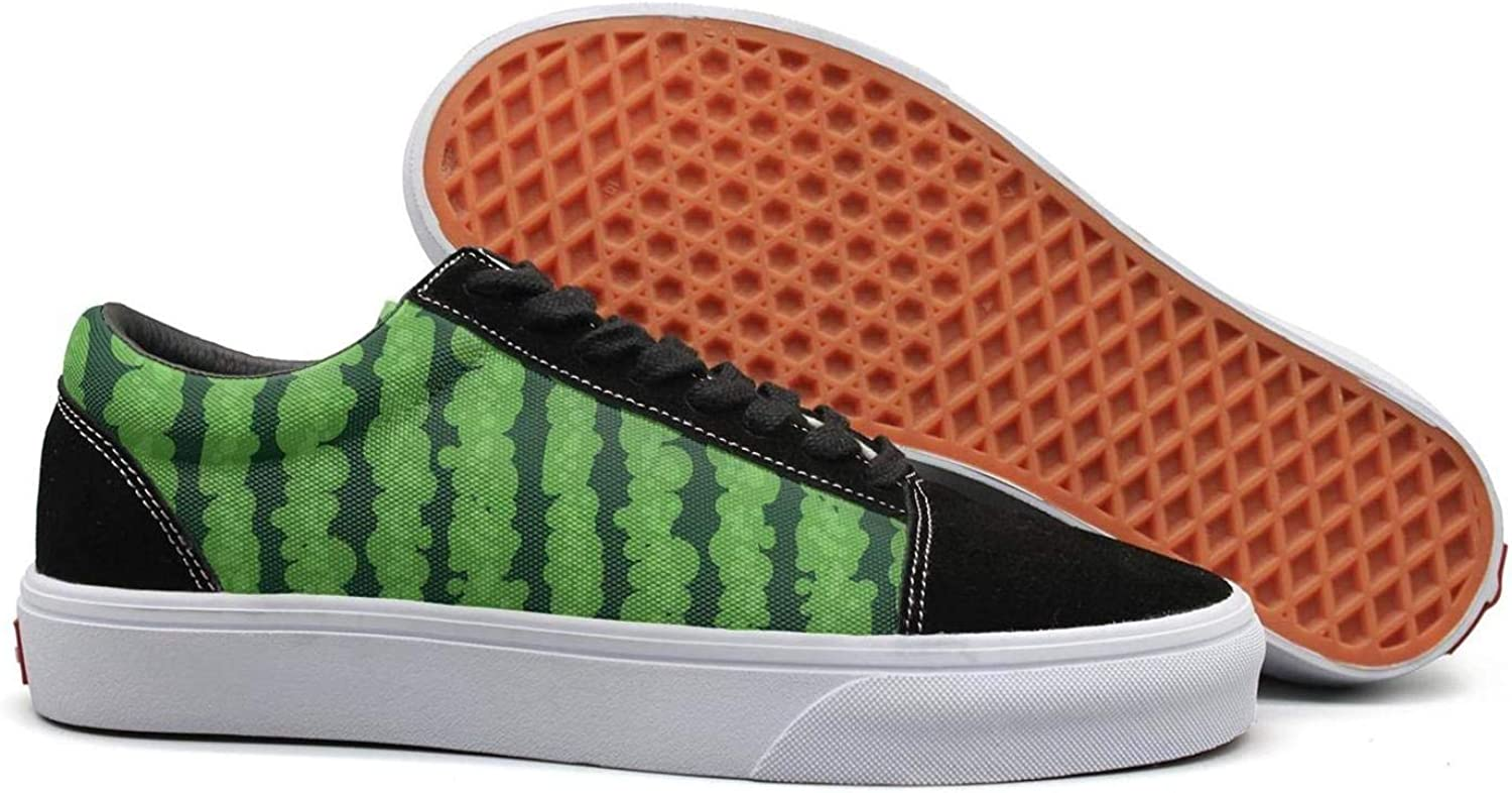 Uieort Tropical Watermelon Fruit Womens Lace up Canvas shoes Fashion