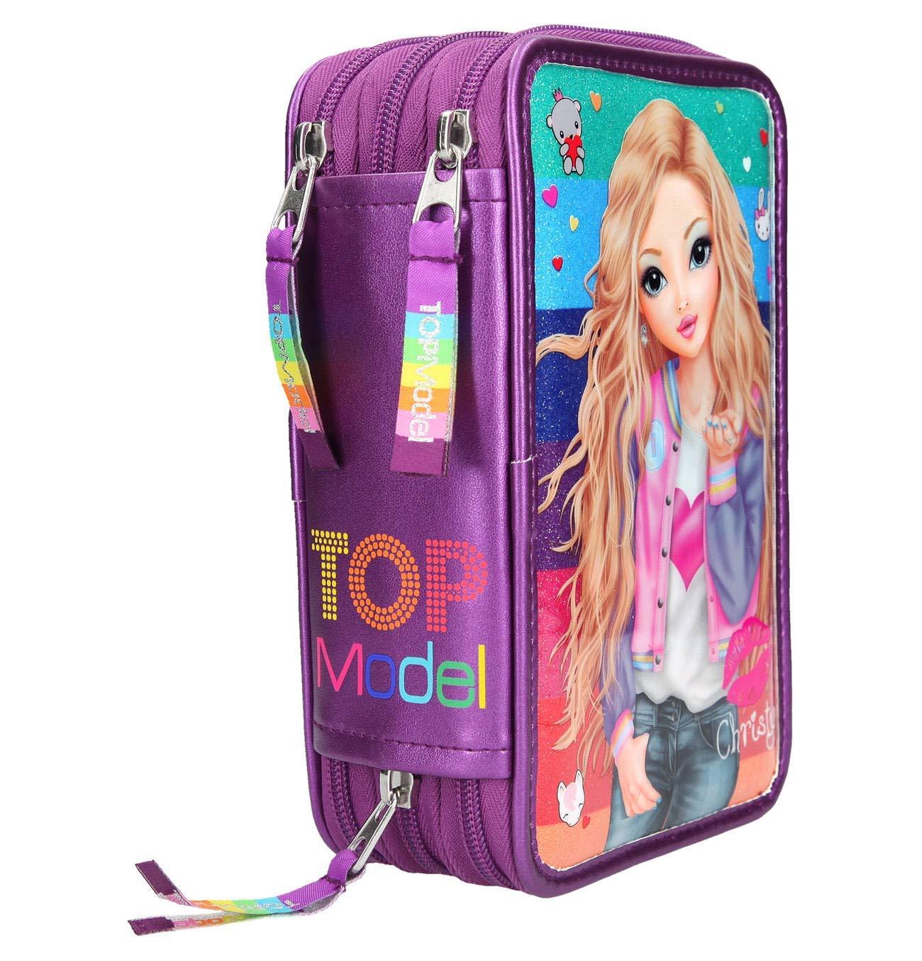 TopModel 3 de estuche con compartimentos Pop Star Guitarra Rosa con Candy: Amazon.es: Oficina y papelería