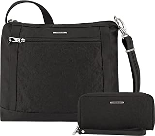 Anti-Theft Square Crossbody and Wallet Set - Medium RFID Lined Handbag for Travel & Everyday