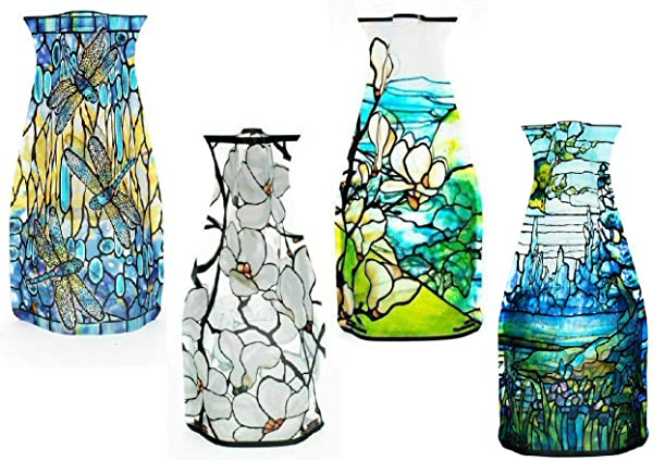 MODGY Myvaz Collapsible Expandable Flower Vase Tiffany 4pc Collection