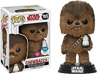 Funko Chewbacca [Flocked] (f.y.e. Exclusive): Star Wars - The Last Jedi x POP! Vinyl Figure & 1 POP! Compatible PET Plastic Graphical Protector Bundle [#195 / 21392 - B]