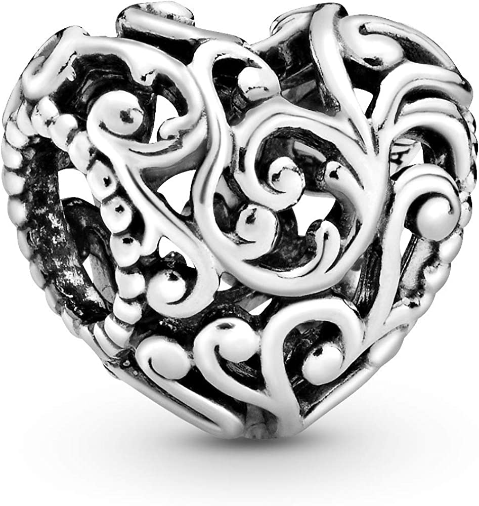Pandora,bead charm,ciondolo per donna, cuore,in argento 797672