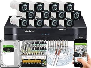 Kit 12 cameras seguranca 2 mp Full HD DVR Intelbras 1116 1TB