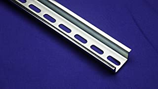 New DIN Rail Slotted Steel, Pre-Cut 35mm x 15mm, 475 mm (19 Inch) Long