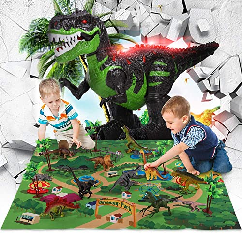 discount 9 popular Realistic Dinosaur Play Set outlet online sale with Mat+ 2.4G Stunt Remote T-rex outlet online sale
