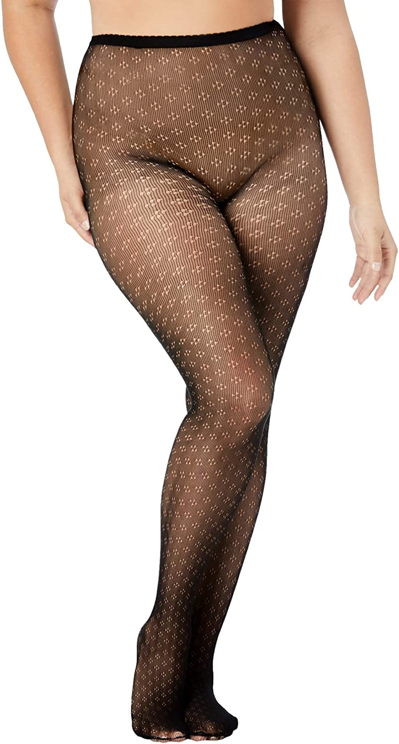Comfort Choice Women's Plus Size Embroidered Tights
