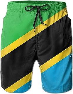 Bernice Winifred Flag of Tanzania Hombres Bañadores de Secado rápido Pantalones Cortos de Playa Pantalones