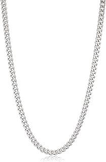 [ウィゴー] 【男女兼用】 ネックレス メンズ ステンレス チェーン アクセサリー アクセ ネックレス 50cm メンズ 柄2 喜平 4mm シルバー