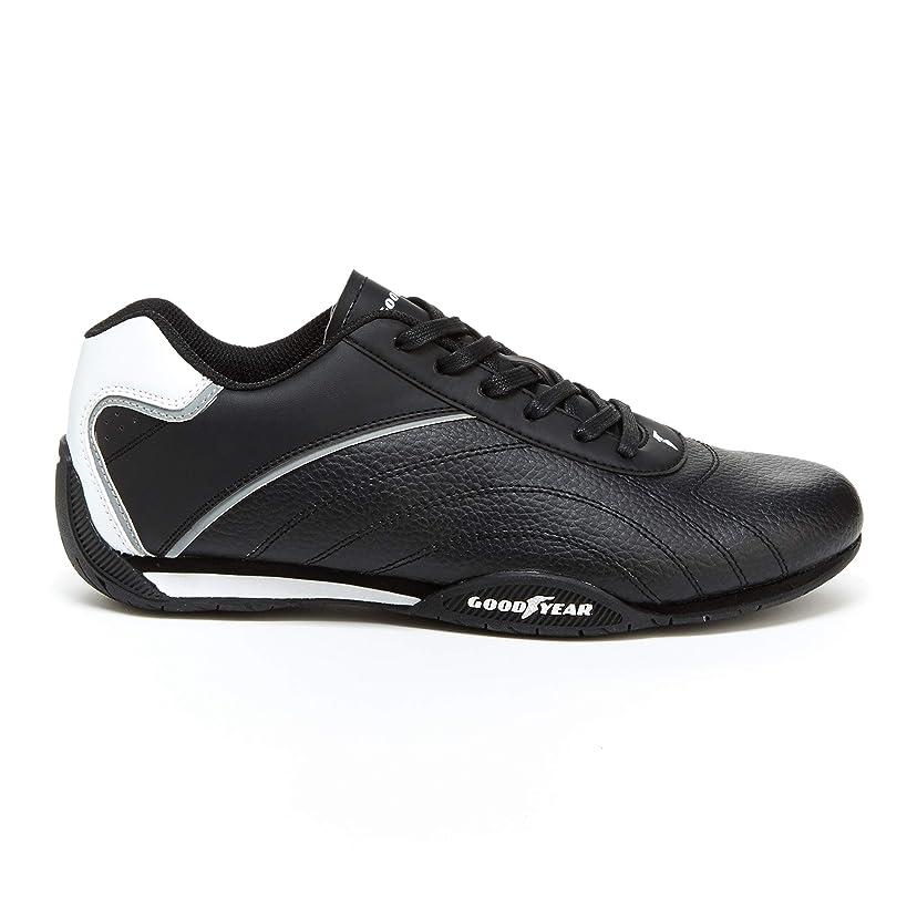 Goodyear Mens Ori Racer Sneaker – Low-Top Sneakers, PU Leather & Mesh Lining