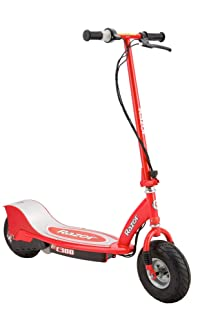 Razor E300 Durable Adult & Teen Ride-On 24V Motorized High-Torque Power Electric Scooter, Speeds up to 15 MPH with Brakes and Pneumatic Tires, Red