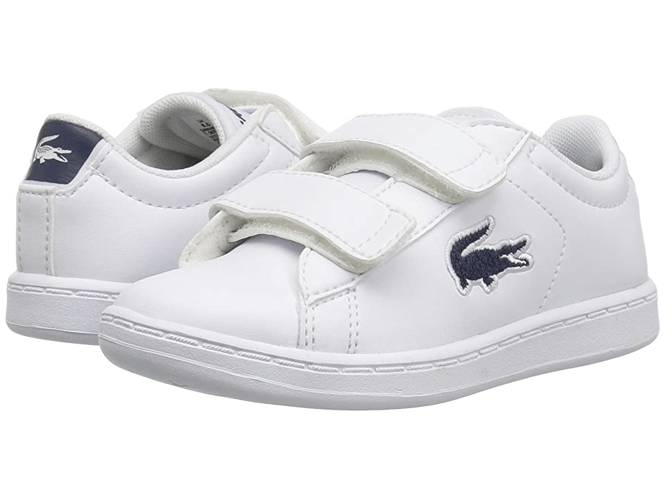 Lacoste Kids Carnaby Evo HL (Toddler/Little Kid) (White/Navy 2) Kids Shoes