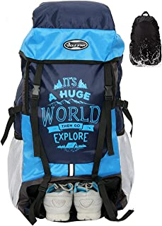 POLESTAR XPLORE 55 ltrs Rucksack Hiking Backpack with Rain Cover and Shoe Compartment