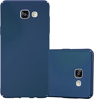 Cadorabo Case Works with Samsung Galaxy A3 2016 in Metal Blue – Shockproof and Scratch Resistent Plastic Hard Cover – Ultra Slim Protective Shell Bumper Back Skin