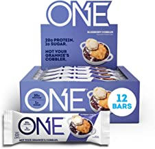 ONE Protein Bars, Blueberry Cobbler, Gluten Free Protein Bars with 20g Protein and only 1g Sugar, Guilt-Free Snacking for ...
