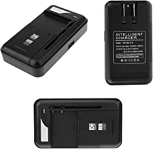 Sfmn Compatible/Replacement for Universal Battery Charger with USB Output Port for 3.8V High-Voltage Battery for Samsung Galaxy S5 S2 S3 S4 J5, Note 4 3 2, Edge, LG Optimus G4 G3 G2 (Black)