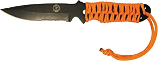 UST Full Tang ParaKnife FS 4.0 with 4 Inch Serrated Blade, Paracord Lanyard and Fire Starter for Hiking, Backpacking, Camping and Outdoor Survival