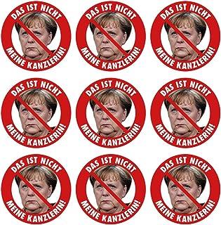 Aufkleber / Sticker   Das ist nicht meine Kanzlerin! (Aufkleber Set, 9 Stück) Angela Merkel Protest Merkel muß weg Demo Deutschland Regierung Schnauze Voll
