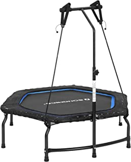 SONGMICS Mini Trampoline Folding Fitness Rebounder with Handle 44-Inch