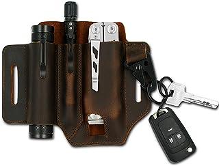 Artisanant Leather EDC Pocket Organizer for Men,Multitool Leather Sheath for Belt, Leatherman Sheath with Pen Holder, Key ...