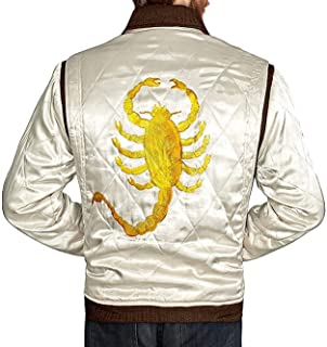 DHA Leather Garments Ryan Gosling Drive Jacket Chaqueta Golden Scorpion para Hombre