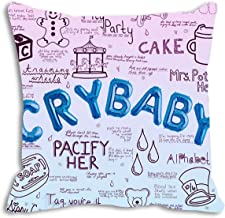 Cry Baby Simple Home Decor Design Throw Pillow Case Decor Cushion Covers Square 18 x 18 inch inch Beige Cotton Blend Linen...