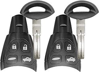 For Saab 2003-2009 9-3 9.3 2003-2007 9-5 9.5 Remote Car Key Fob 433 MHz FCCID: LTQSAAM433TX ;by AUTO KEY MAX (PAIR)