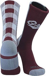 TCK Elite Montana Grizzlies Griz Lumberjack Crew Socks