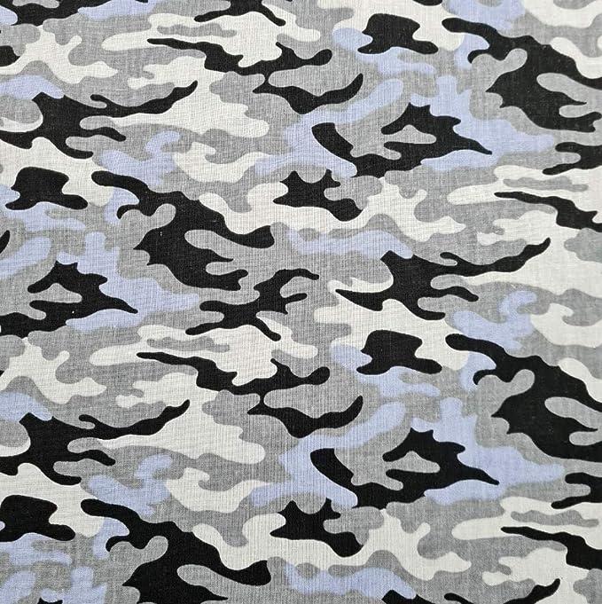 Pingianer 8,98/€//m Camouflage Tarn 100/% Baumwolle 50x160cm Baumwollstoff Meterware Handwerken N/ähen Stoff Tarn Schwarz Wei/ß Gro/ß