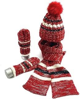 CADANIA Sciarpa Scaldacollo a Collo in Maglia a Costine con Cerniera Invernale Donna 1#