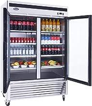 Commercial Double Glass Door Refrigerator, Atosa Beverage Showcase Refrigerators Bottom Mount 46 cu. ft. 33℉—45℉, MCF8707