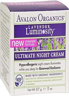 Avalon Organics Brilliant Balance Night Cream, 2 oz