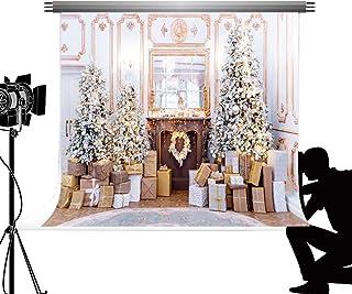 Kate Foto Hintergrund 2,2X1,5m Weihnachtsbaum Kamin Blume Kranz Geschenke Hügel Fotografie Hintergrund Weihnachten Urlaub Familie Dekoration