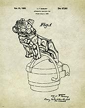 Semi Truck Driver Motivational Patent Poster Art Print 11x14 Mack Bulldog Hood Ornament Wall Decor Pictures