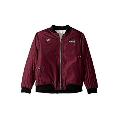 Maddie by Maddie Ziegler Reversible Bomber Jacket (Big Kids) (Burgundy) Girl