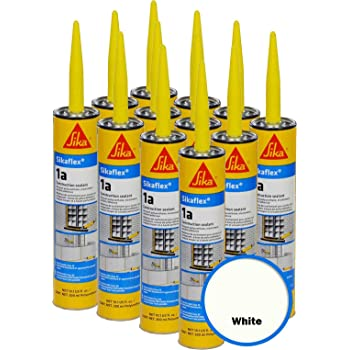 Polyurethane Sealant Caulk 10.3 fl oz White SIKA Sikaflex 1A 6 Pack