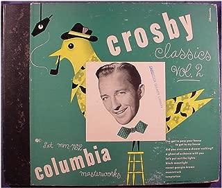Bing Crosby Near Mint 4 Disc 10 Inch 78rpm Set & Original Book Cover - Crosby Classics Vol. 2 - Columbia Masterworks Records Set MM-762 - 1946