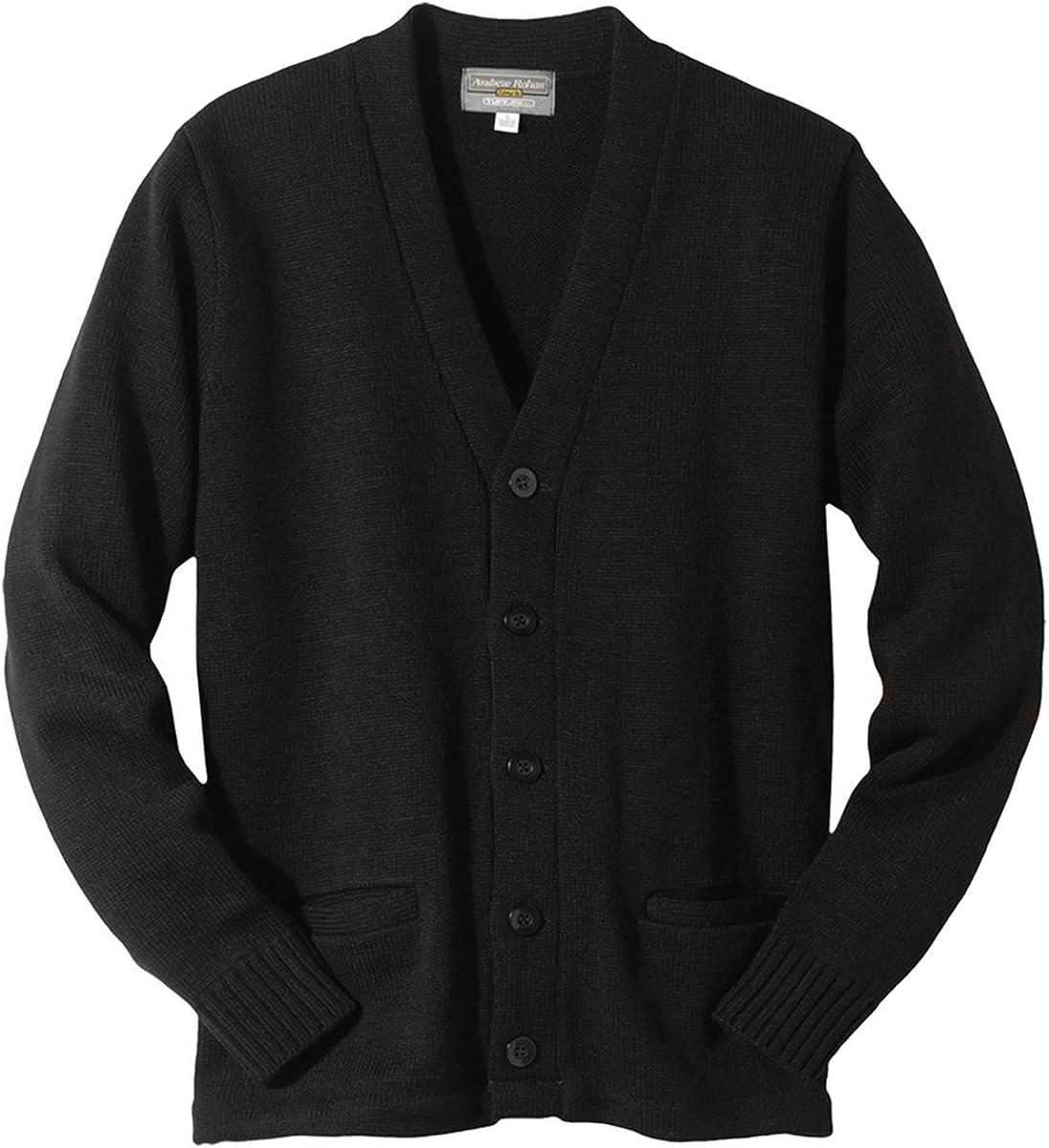 Edwards V-Neck Button Acrylic Cardigan Sweater Medium RED