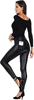 MCEDAR Women's Faux Leather Leggings Plus Size Girls High Waisted Sexy Skinny Pants