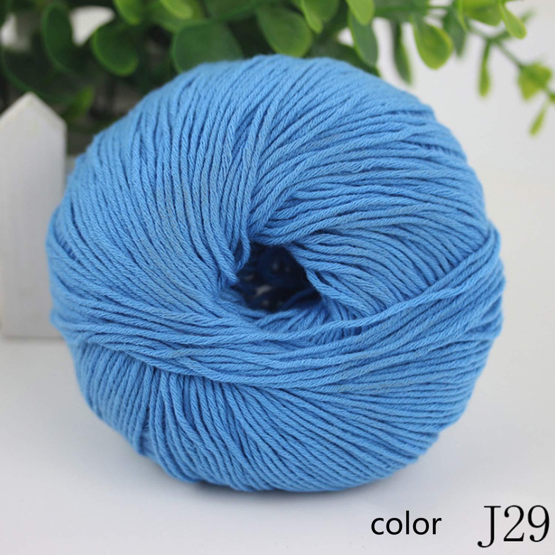 W.S.-YUE Hilo Tejido Grosor Mediano y Grueso Mano Serie Hilo de algodón Niño Crochet 1/3.0NM 1 Bola sobre 50 g Juego de 10 Bolas (Color : Col J29, UnitCount : 20 Balls): Amazon.es: Jardín