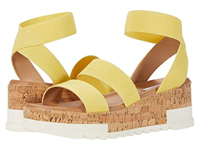 Steve Madden Bandi Wedge Sandal (Yellow) Women