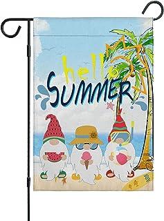 JYYBN Summer Welcome Garden Flag Sunflower Mason Jar Flags Double Sided Vertical Yard Outdoor Decor Lawn Flag 12.5 X 18 Inch