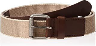 Timberland Men's Canvas Belt, Medium - Gold