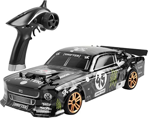 YuanYang hotpot Off Road Rc Car for Adults Kids,1:18 2.4G 4WD Drift Racing Car 4wd LED Sports Car Model Remote Control Vehicle High Speed Electronic Toys 4 Wheels Drive