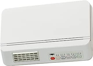 [山善] 壁掛式 脱衣所温風ヒーター 温風/送風切替 リモコン付 ドライヤー機能付 切タイマー付 ホワイト DFX-RJ12(W) [メーカー保証1年]